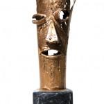 Colto di sopresa - 2006 - cm 45x15x15 - bronze on marble - peter gazzola