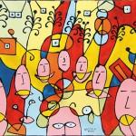 Espressioni -  2002 - cm 60x80 - mixed media on canvas - peter gazzola