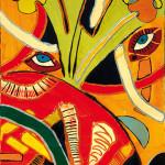 Gioco di occhi - 2002 - cm 70 x 50 - mixed media on canvas - peter gazzola