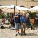 Peter Gazzola con  Achille Bonito Oliva