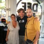 Peter Gazzola con Federico e Marisa di Radio Deejay