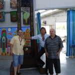 Peter Gazzola con Romi Osti e Gian Paolo Gazzola