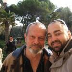 Peter Gazzola con Terry Gilliam