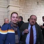 Peter Gazzola con Umberto Eco