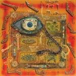 Ti vedo dalla finestra - 2003 - cm 80x80 - mixed media and collage on canvas - peter gazzola