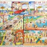 RIMINI E' UN SOGNO - 2014 -  cm 195 x 270 - oil on canvas - Peter Gazzola & Gian Paolo Gazzola